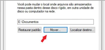 Na aba 'Local' ainda está indicando o local atual da pasta 'Documentos'. Vamos clicar em 'Mover